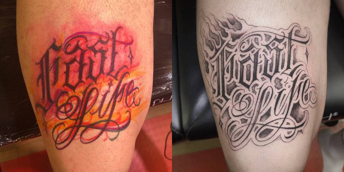 Tatuaggi Lettering a Bologna, by Gio Fini